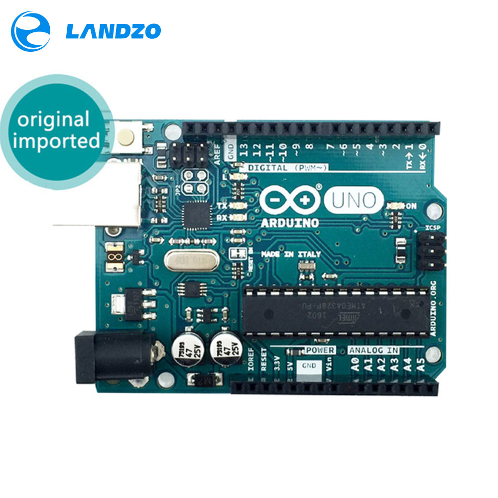 LANDZO Electronic Technology Co.,Ltd 2016 best price UNO R3 ATMega328P for Arduino UNO R3 Official genuine English silk screen printing
