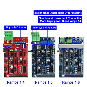 Ramps 1.6 Expansion Control Panel with Heatsink Upgraded Ramps 1.4/1.5 for arduino 3D Printer Board(China)