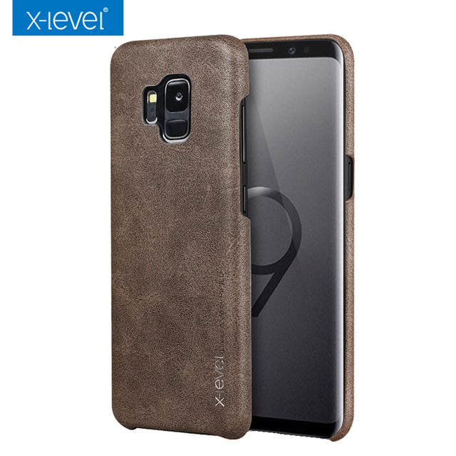 promo code 2b8d6 731a1 Aliexpress.com : Buy Luxury Vintage Case For Samsung Galaxy S9 S9+ X Level  Super Thin PU Leather Back Cover for Galaxy S9 Plus S9 case fundas from ...