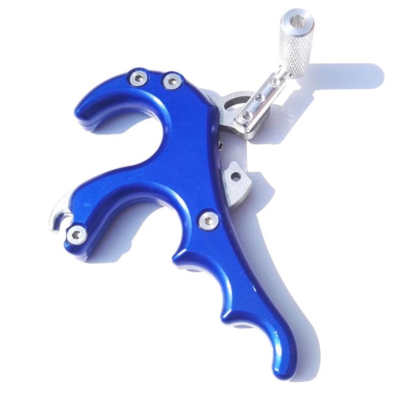 4 outils de dégagement de flèche d'étrier de poignée de doigt pour l'arc composé chasse tir à l'arc en aluminium flèche de tir à l'arc 4 poignée de doigt