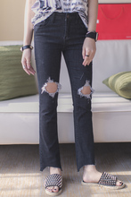Мода старинные ретро отделка промывочной воды отверстие флэш ремонт midsweet брюки джинсы женские
