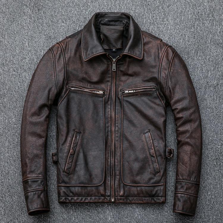 HTB1vrMtEY5YBuNjSspoq6zeNFXab MAPLESTEED Brand Amekaji Motor Biker Style Men Leather Jacket Black Red Brown Cowhide Vintage Jackets Men Winter Coat 5XL M100