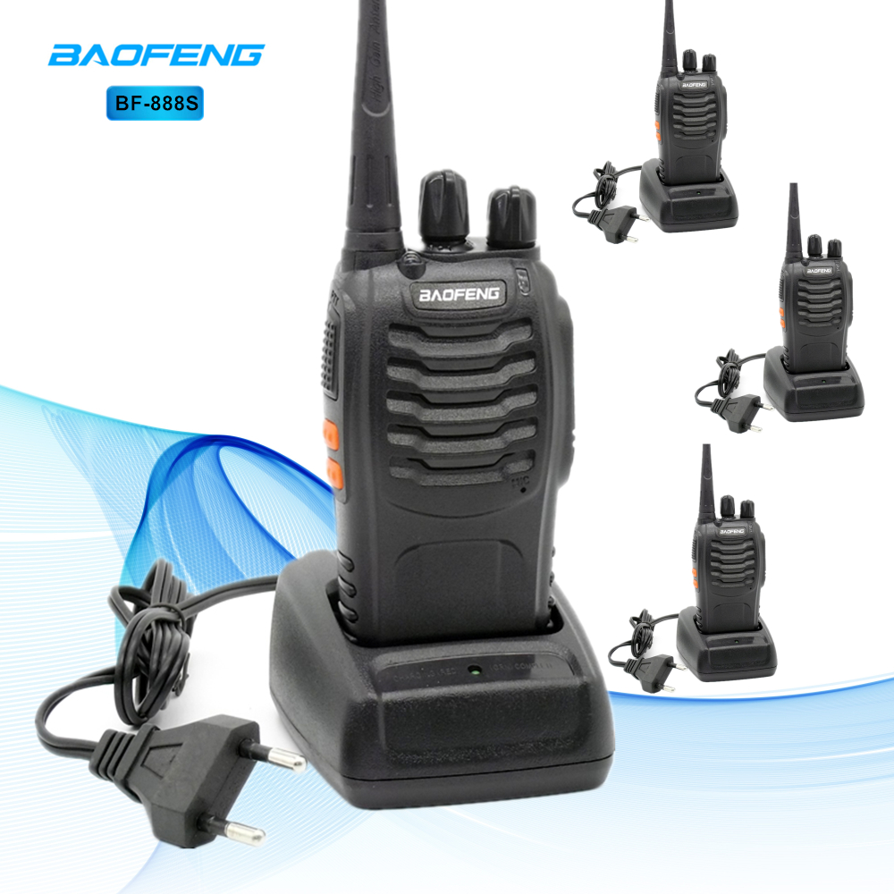 4pcs Baofeng BF 888S Walkie Talkie UHF 5W 400 470MHz Handheld Two Way Radio hf FM Transceiver Comunicador Ham CB Radios BF 888s-in Walkie Talkie from Cellphones & Telecommunications
