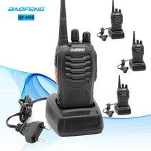 цена на 4pcs Baofeng BF 888S Walkie Talkie UHF 5W 400-470MHz Handheld Two-Way Radio hf FM Transceiver Comunicador Ham CB Radios BF-888s