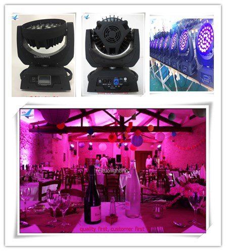 A-4PCS Wash 36x15w 5in1 Event Light Stage Backdrop Led Moving Head Zoom Light