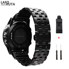 Laforuta נירוסטה רצועת עבור Garmin Fenix 5 5S 5X Forerunner 935 945 להקת 20mm 22mm 26mm מהיר Fit Watchbands יד להקות