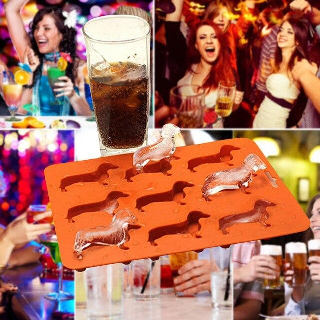 brixini.com - Cartoon Dachshund Ice Cube Tray 2pcs