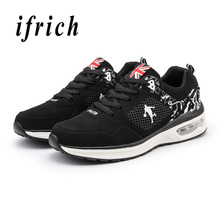 лучшая цена Sport Shoes Air Men Black Blue Man Running Shoes Spring Autumn Mens Gym Trainers Shoes Comfortable Tracking Male Sneakers