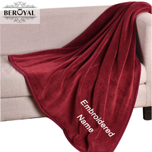 Beroyal Brand 2017 Personalized Customized Fleece Blanket - Super Soft Embroidered  Throw Blanket on Sofa/