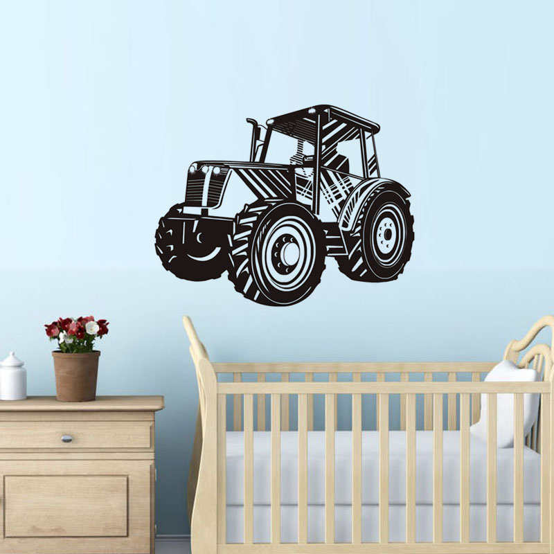 Tractor Wall Stickers For Kids Room Bedroom Removable Vinyl ...