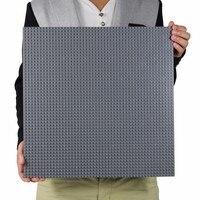Lecgos Big Size 40 40cm Blocks DIY Baseplate With 50 50 Dot Bricks Base Plate With