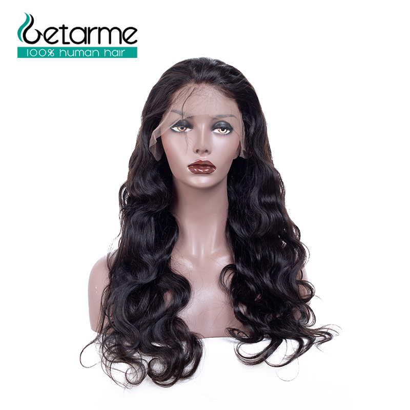 Body Wave Pre Plucked Full Lace Human Hair Wigs With Baby Hair Natural Black Weave Brazilian Non-Remy Hair Getarme Wig