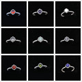 Birthstone Rings Compatible Authentic 925 Sterling Silver Engagement Ring for Women Jewelry RI036