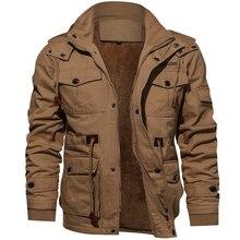 חורף מעיל צבאי גברים מזדמנים עבה תרמית מעיל צבא טייס מעילי חיל אוויר מטען להאריך ימים יותר צמר סלעית מעיל 4XL בגדים