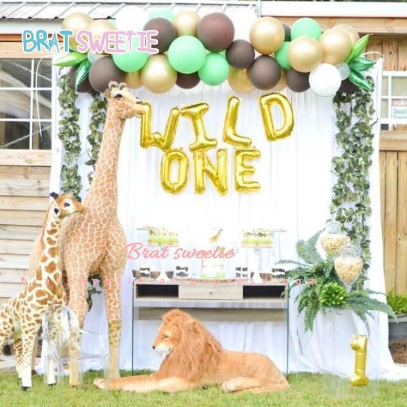 16 Inch WILD ONE Foil Balloons Baby First 1st Birthday Girl Boy Happy