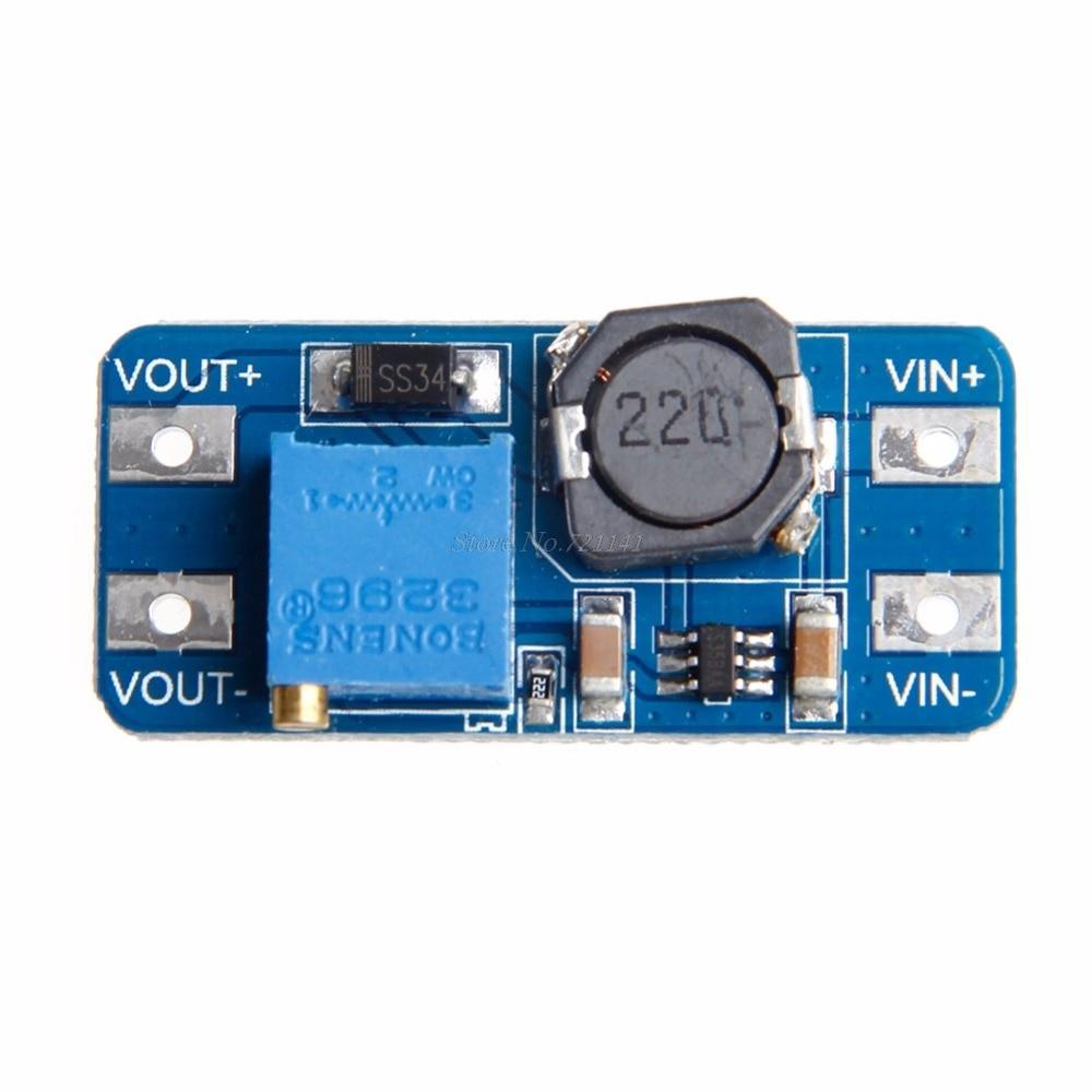 MT3608 DC DC Schritt Bis Ausgang 2A Einstellbare Converter Booster Netzteil Modul