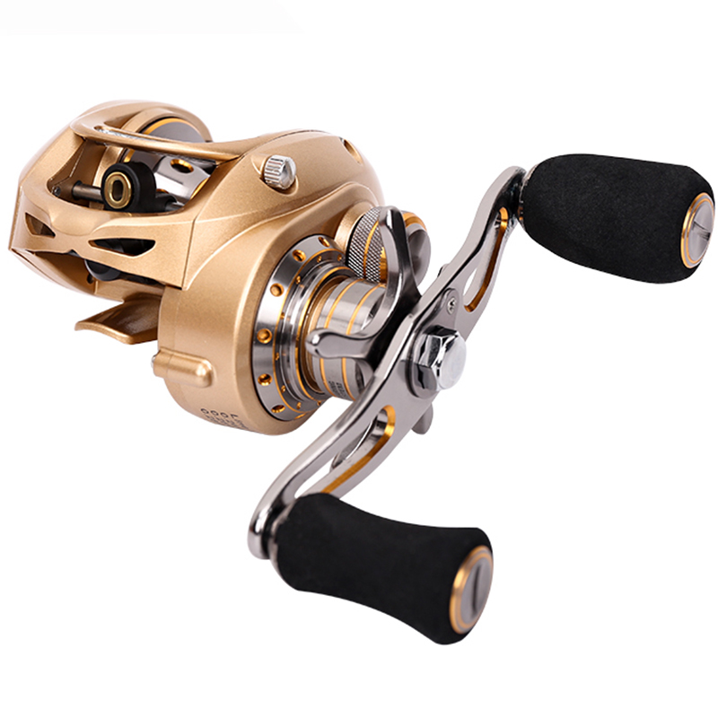 Trulinoya New Double Brake Baitcasting Reel 7.0:1 9BB+1RB Bait Casting Reel Max Drag 7KG For Sea Fishing and Freshwater Fishing rover drum saltwater fishing reel pesca 6 2 1 9 1bb baitcasting saltwater sea fishing reels bait casting surfcasting drum reel