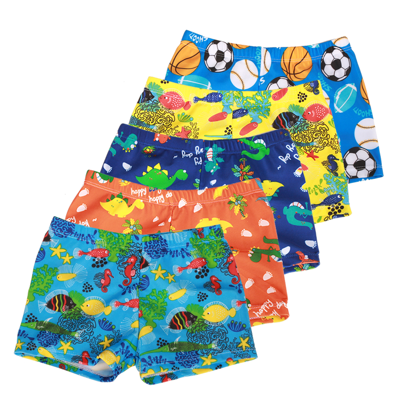 9aa1305b54 Swim dPois Kids Boys Cartoon Animal Sea-Fish Swimming Trunks Swim Boxer  Shorts Swimwear Beach Wear Blue ...