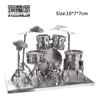 3D Metal Puzzles Model For Adult Kids Jigsaw Drums Educational Toy Juguetes Collection Birthday Christmas Gift