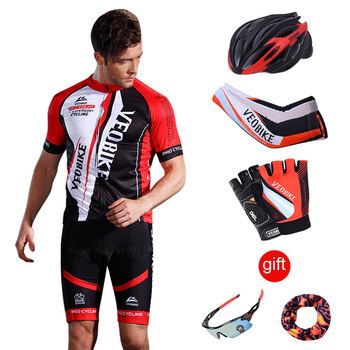 Red black Men s cycling kit 2018 Summer Breathable short sleeve Jersey and bib  shorts 9D pad Riding suit road bike MTB clothing - forumveex review deaa34598