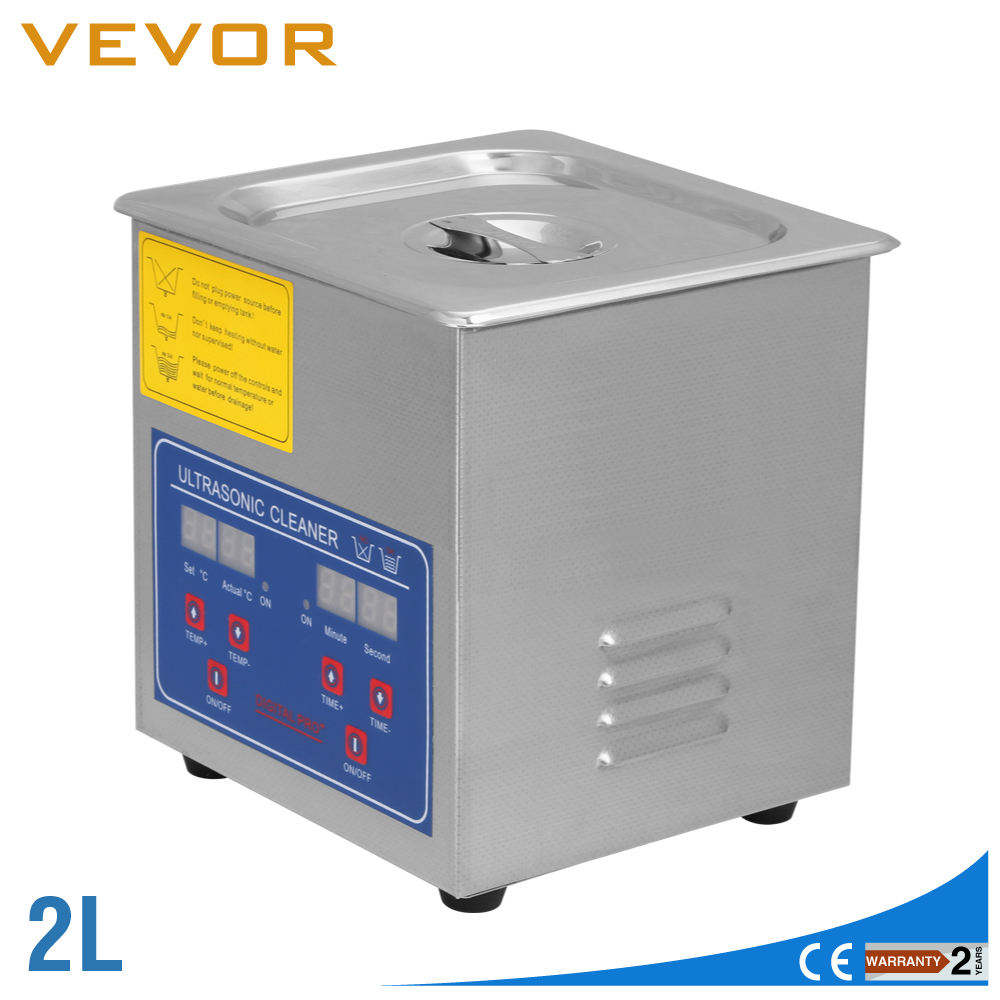 2L Digital Stainless Ultrasonic Cleaner Ultrasonic Bath Cleaning Tank Timer Heater