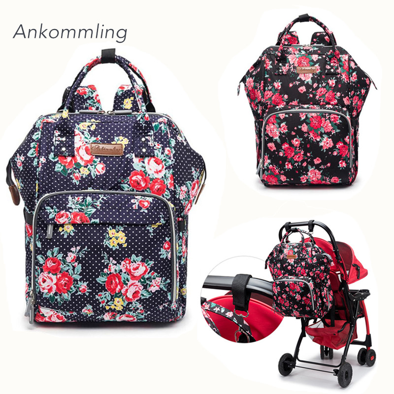 Ankommling Diapre Bag Maternity Nappy Bag For Baby Stroller Large Capacity Nursing Backpack Travel Wet Bag