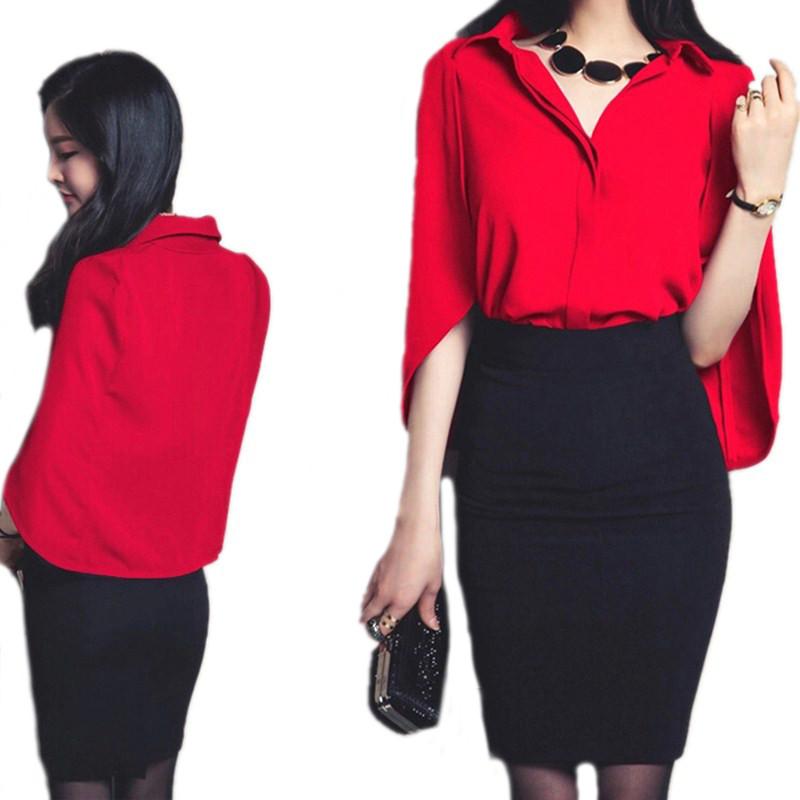 Womens-2-Piece-Set-Summer-Style-Short-Bat-Sleeve-Chiffon-Blouse-Shirt-Cloak-Women-Knee-Length (4)