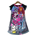 2017 New Children Girls Princess Dress Kids Party Monster Dress Girls Clothing Ever After High Casual Dress Girl Clothes Cartoon