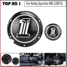 Черный Дерби & Таймер Чехлы Для Пользовательского XL XR Алюминий Для Harley Sportster 1200