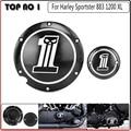 Negro Derby y Temporizador Cubiertas Para Custom XL XR Aluminio Para Harley Sportster 1200