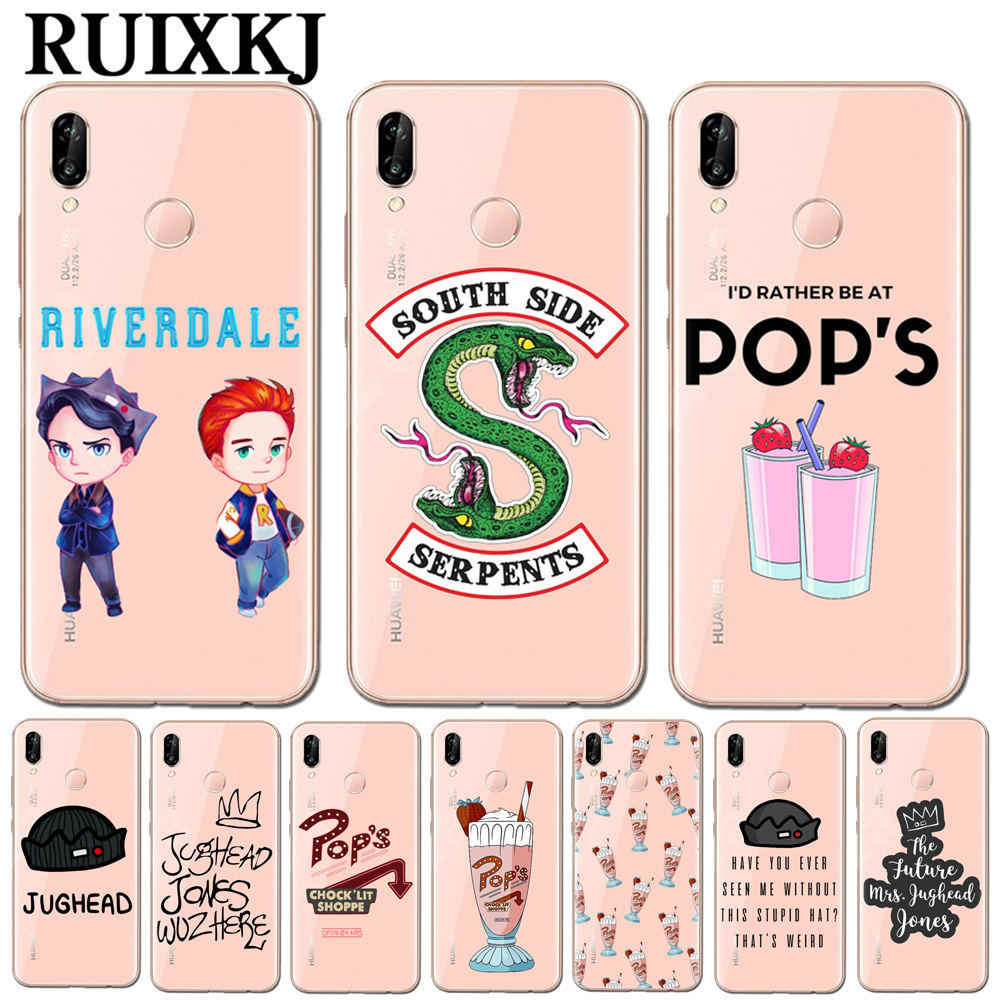 Hot TV Riverdale Soft TPU Phone Case Cover For Huawei P10 P20 Pro P9 P8 Lite Mate 10 Pro Honor 9 10 Lite 6X 7X Y5 Y6 II Y7 2017