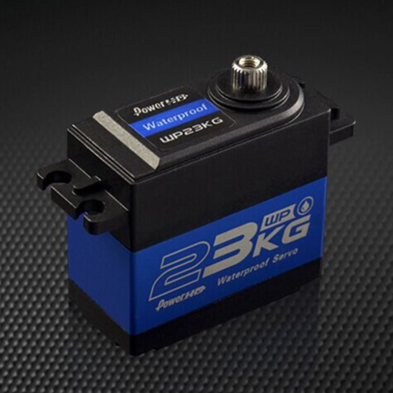 ¿PowerHD WP 23KG 75g/23 kg/? 12 segundos de alta resistencia engranaje de acero resistente al agua Servo Digital para 1/10 RC Control remoto coche barco-in Partes y accesorios from Juguetes y pasatiempos    1