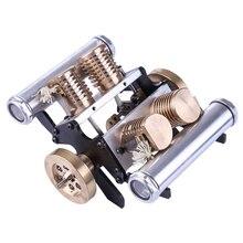 V Form Vier Zylinder Vakuum Saug Motor Modell Spielzeug Für Kinder Erwachsene Lernen Wissenschaft Modell Gebäude Dampf Stem kit