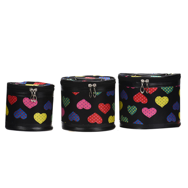 2016 Women's Cosmetic Bag 3 pcs Cosmetic Bags Large Volume Different size Makeup Bag Casual Women Handbag mochila feminina