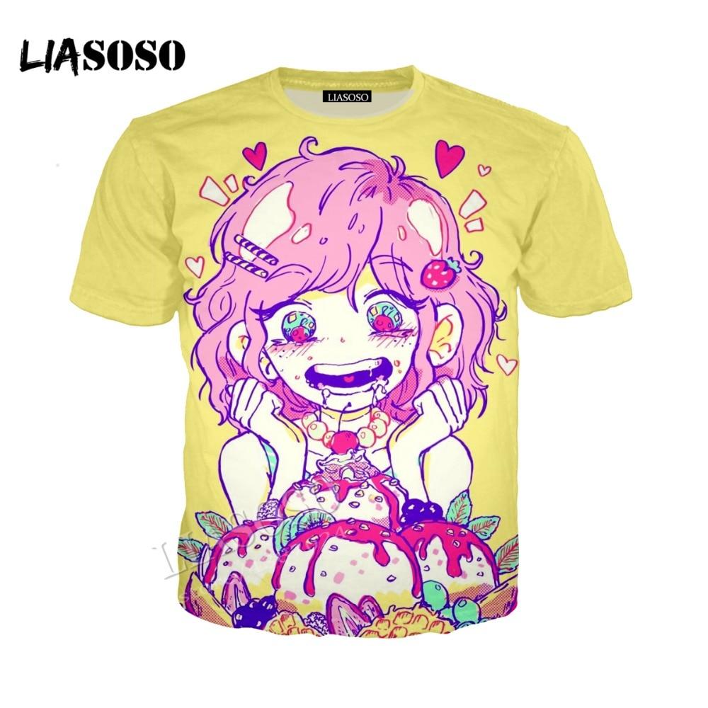 LIASOSO 3D printed comfortable polyester shirt anime Harajuku girl dinner hooded zipper hooded shirt men women sportswear CX255