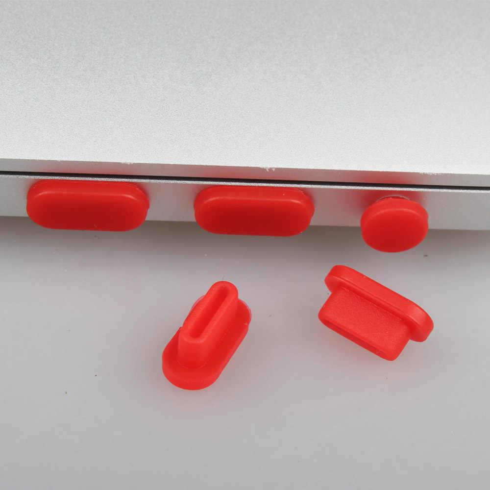 Voor Macbook Pro 13 15 Met/Zonder Touch Bar Id A1706 A1707 Laptop Stof Stekkers Poorten 2017 Siliconen Stof plug Protector Sets