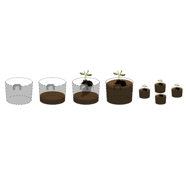1~10 Gallons Black Round Plant Pots Non-woven Fabrics Pouch Root Container Grow Bag Aeration Container Nursery Pots