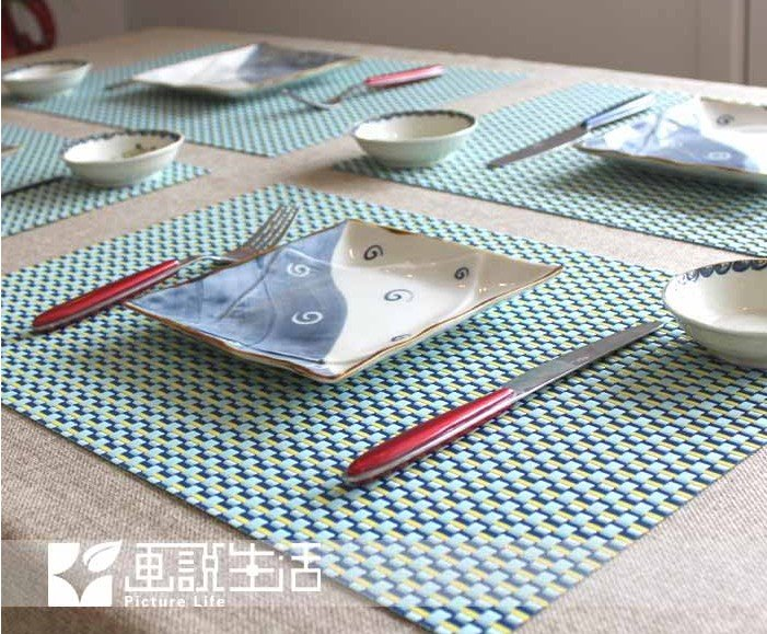 Superior Fashion Two Color Pvc Placemat Coasters Dining Table Mat Heat Insulation  Western Pad Slip Resistant Felt Mats U0026 Pads In Mats U0026 Pads From Home U0026  Garden On ...