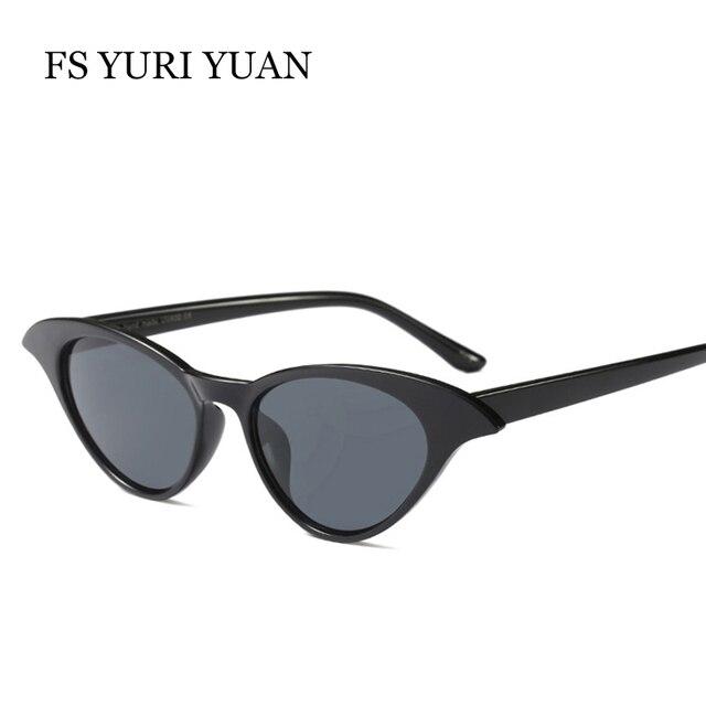 fe9a9fc9aa8c FS YURI YUAN Cat Eye Sunglasses Women Brand Designer 2018 Candy Colors  Glasses Black Red Eyewear