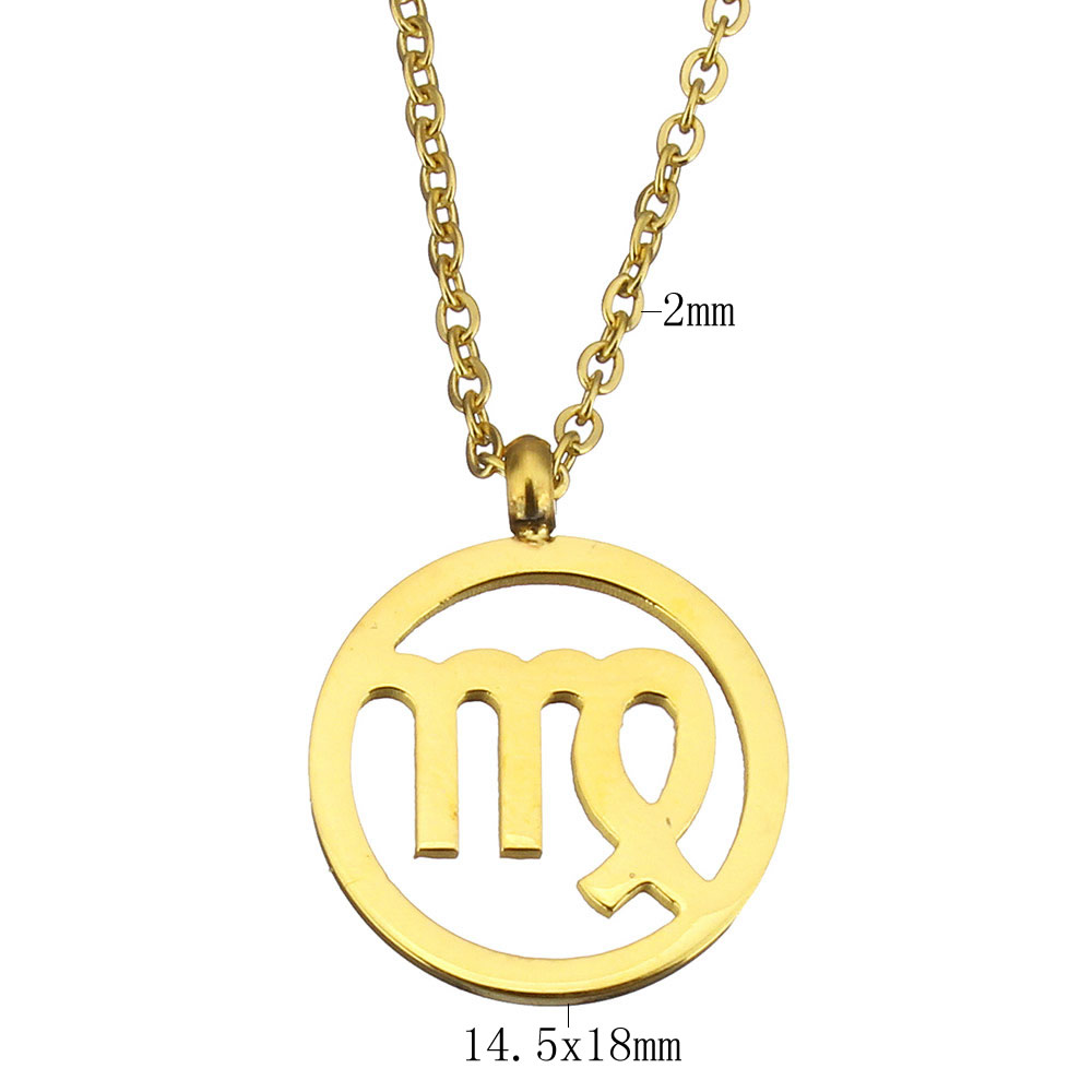 chain with from plated necklace in extender stainless sale item steel jewellery necklaces gift plating virgo fashion womens women pendant jewelry new arrival