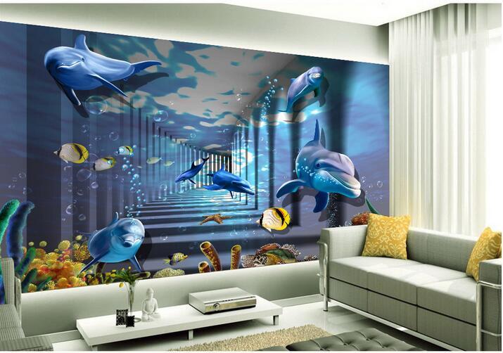 3d wallpaper custom photo non woven mural wall sticker 3d Household ...
