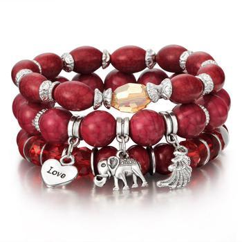 Women's Boho Style Stone Charm Bracelet Bracelets Jewelry New Arrivals Women Jewelry Metal Color: sl1036