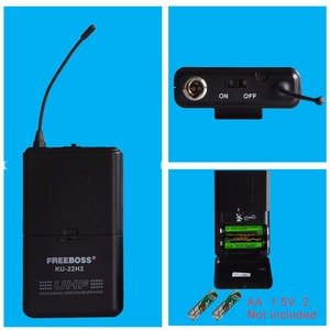 Image 3 - FREEBOSS KU 22H2 système de Microphone sans fil UHF DJ karaoké 2 revers 2 micro casque (2 transmetteur Bodypack)