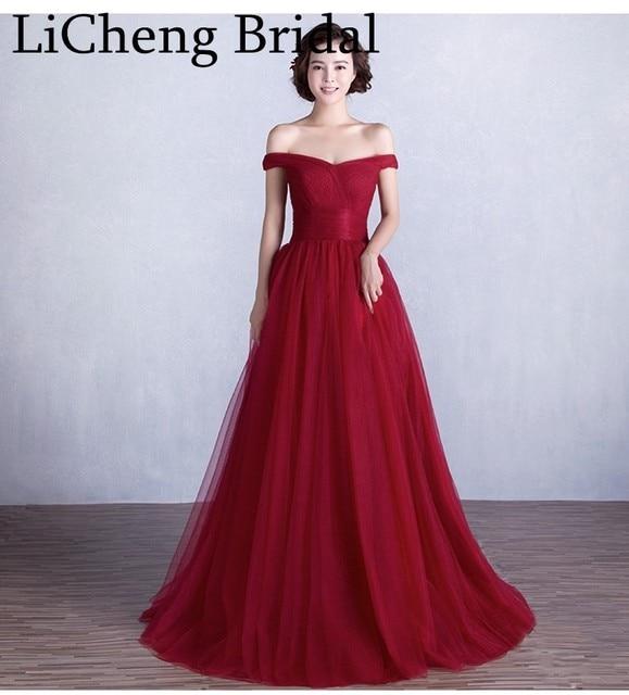 Robe longue rouge vin