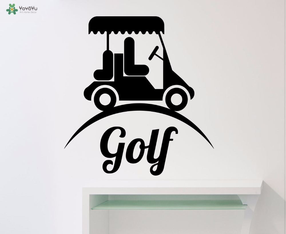 YOYOYU Wall Decal Golf Car Pattern Vinyl Wall Stickers Logo Window Home Decor Modern Design Art Mural Boys Bedroom Sports CY78