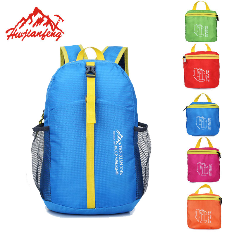 Hot Sale Waterproof Folding Travel Sport Bag Lightweight Camping Hiking Backpack School Bag Women&Men Beach Tourist Backpacks