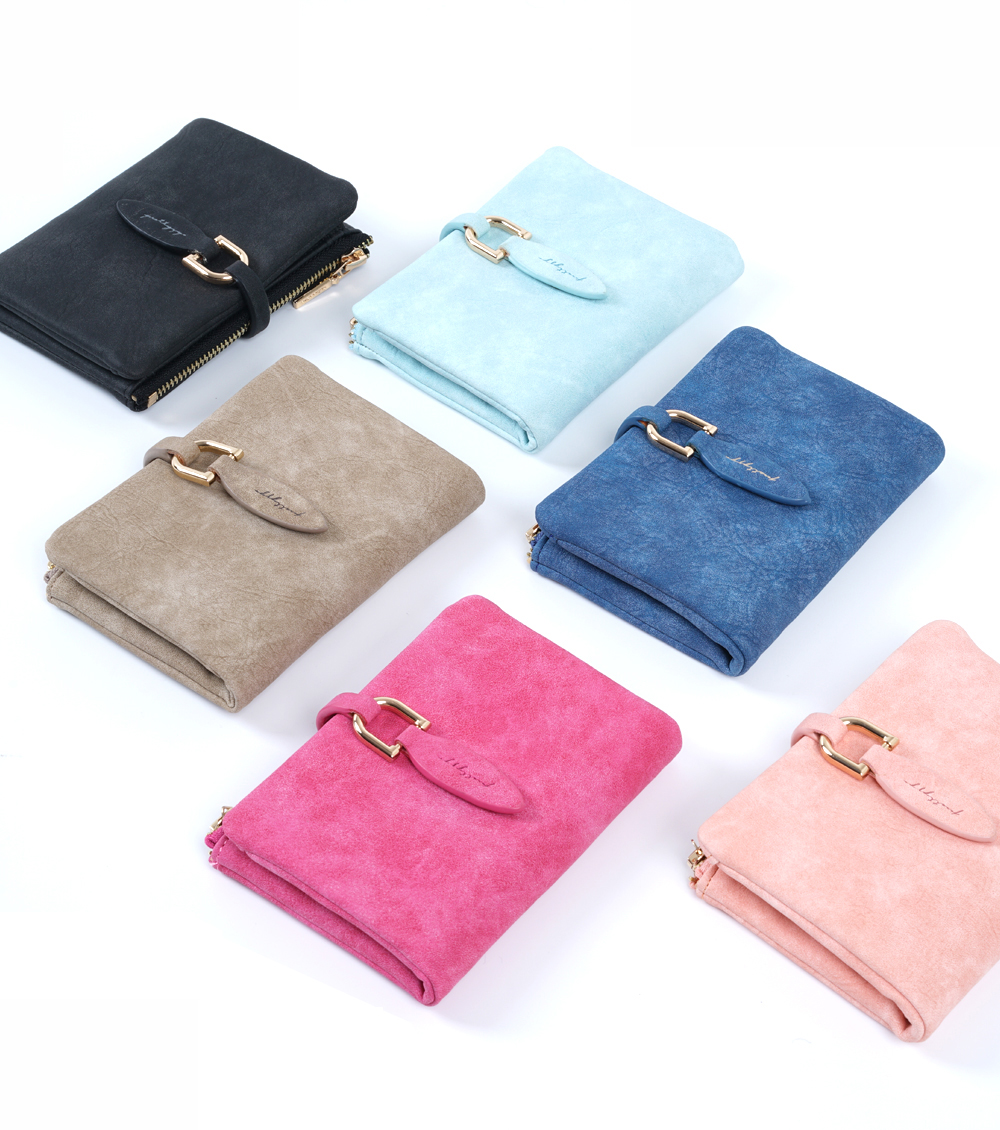 Fashion Women PU Leather Short Purse