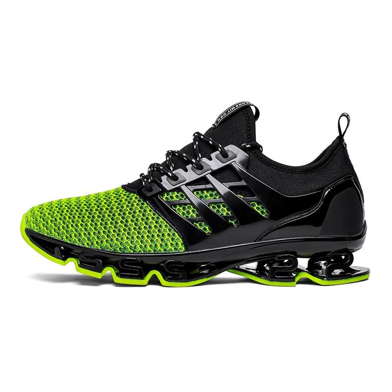 Tamaño grande 36-46 hombres mujeres corriendo zapatos al aire libre transpirable Jogging deporte hoja zapatos para hombres krasovki caminar zapatillas