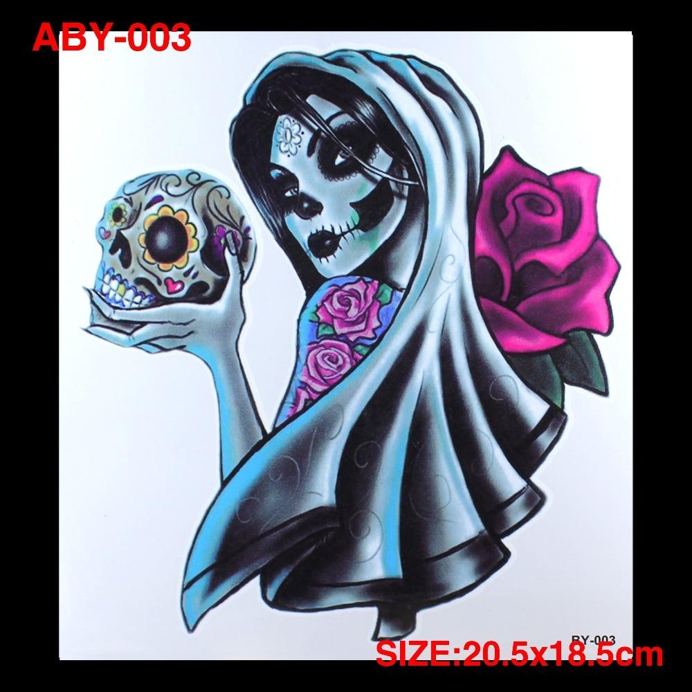 ⑥diy Novia Fantasma Brazo Y Cuerpo Grande Tatuajes Etiqueta 3d