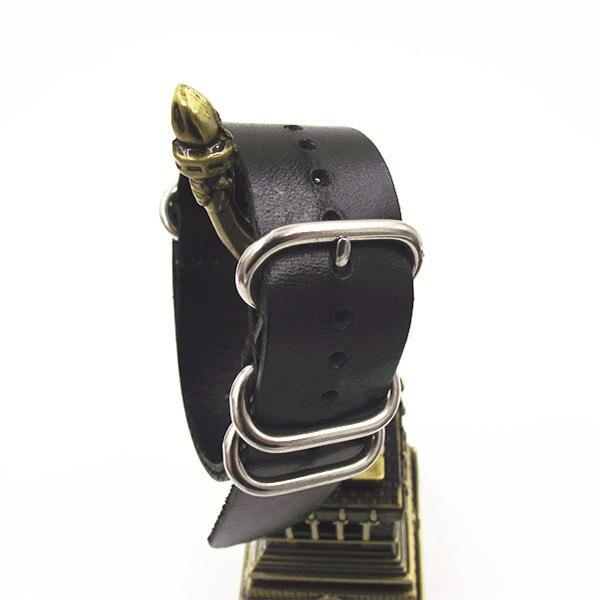 zulu straps genuine leather - 1PCS High quality 18MM Nato strap Watch band NATO straps watch strap-111205 nato cui повседневные брюки